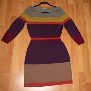 Ann Taylor LOFT Knit Dress Long Sleeve Wool Blend